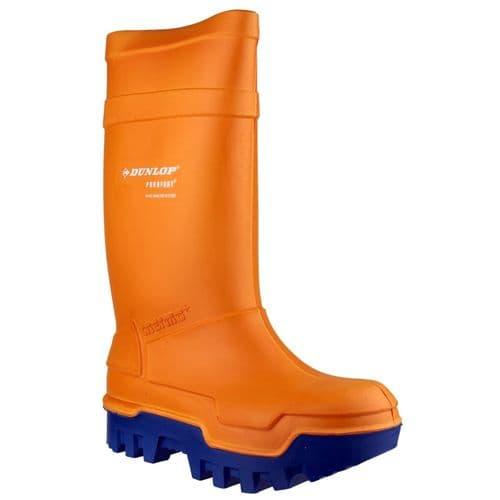 Dunlop Purofort Thermo+ Safety Wellingtons Orange